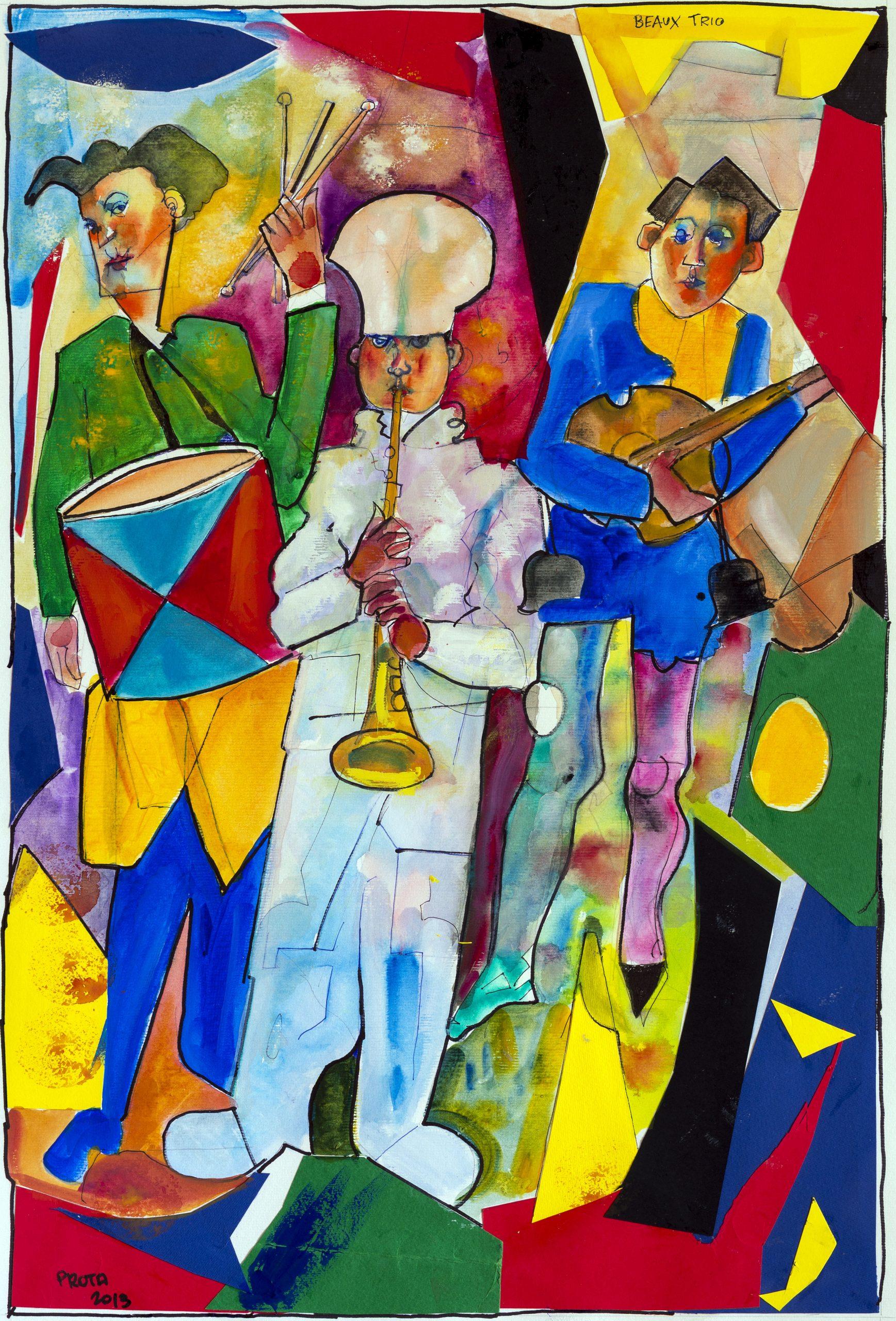 2013 - Beaux-Trio 2013 - 56x38 cm