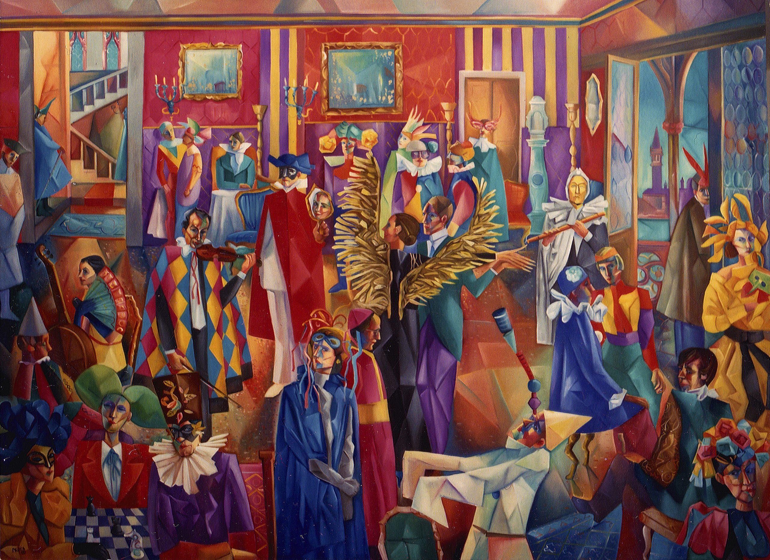 2000 - Carnevale In Casa A Venezia - 160x220 cm