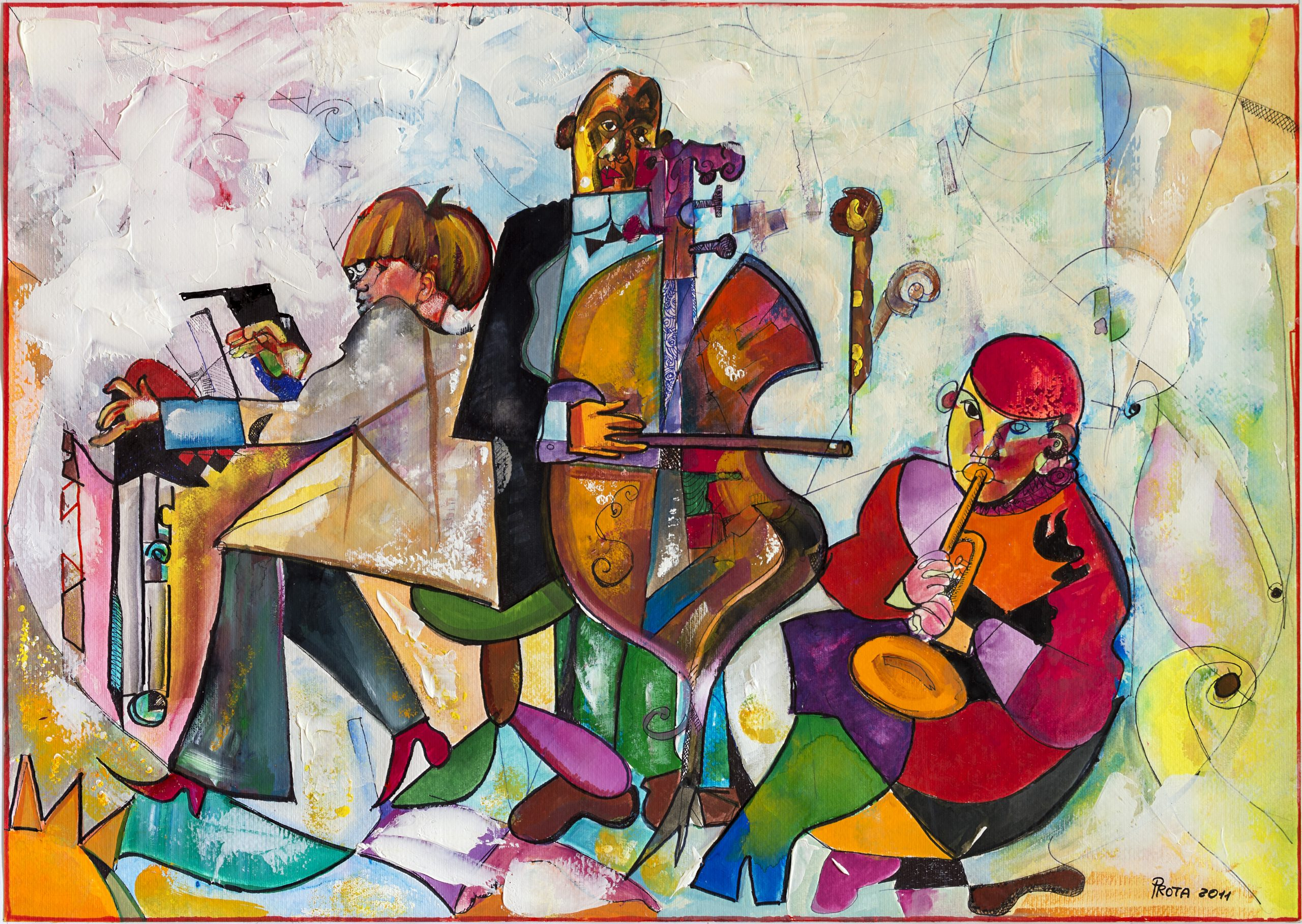 2011 - Concerto (Tempera) - 49x69 cm