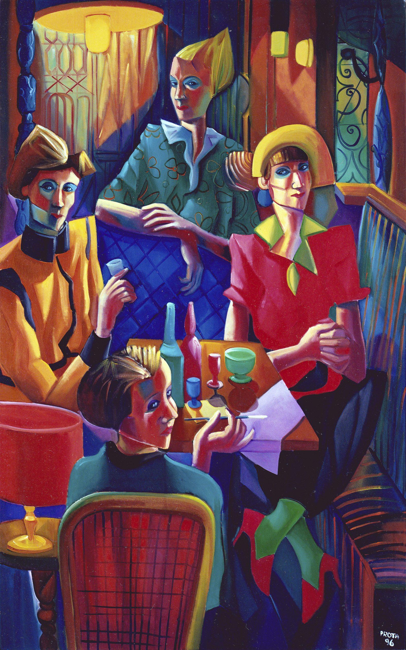 1996 - Donne Al Caffè - 160x100 cm