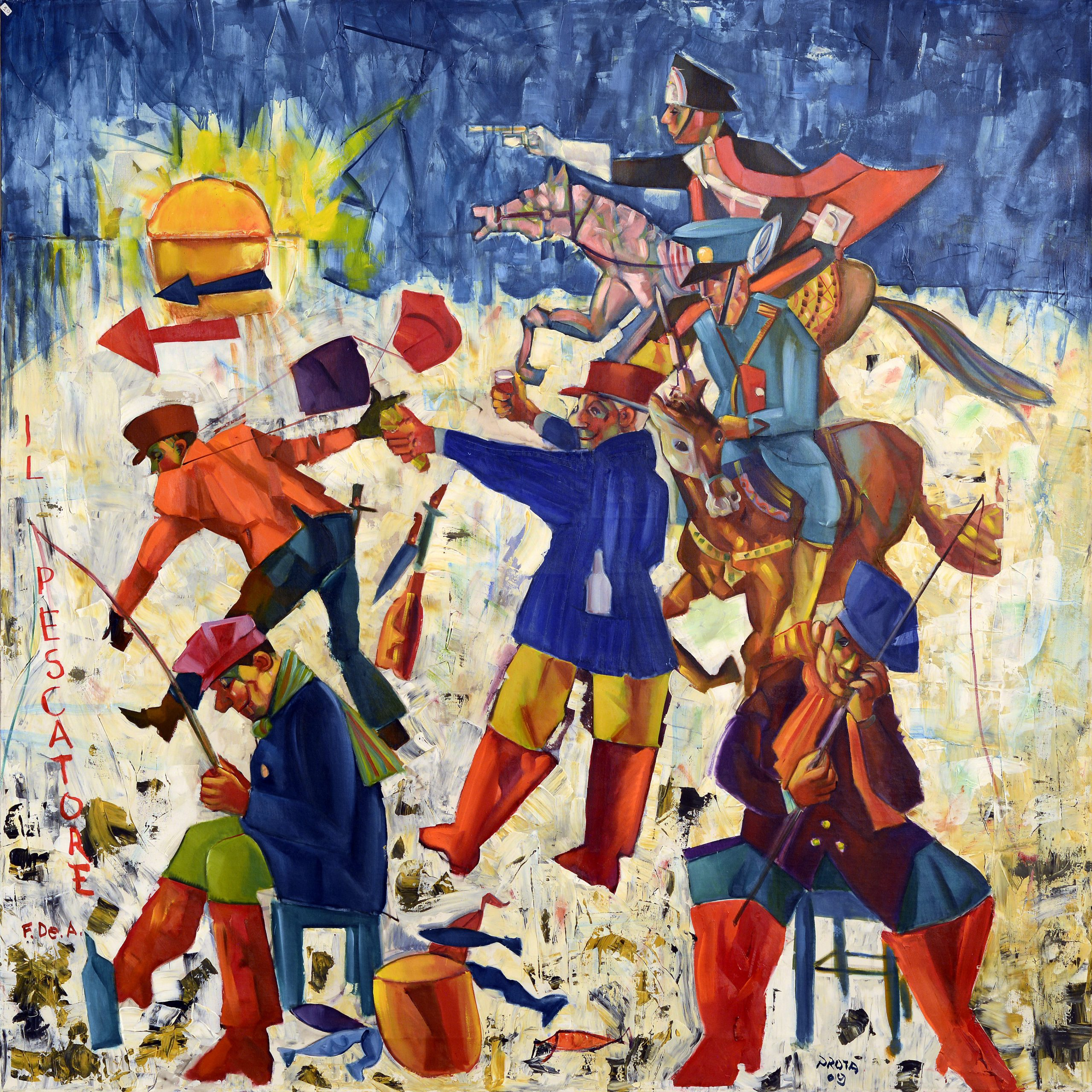 2009 - Il Pescatore - 150x150 cm