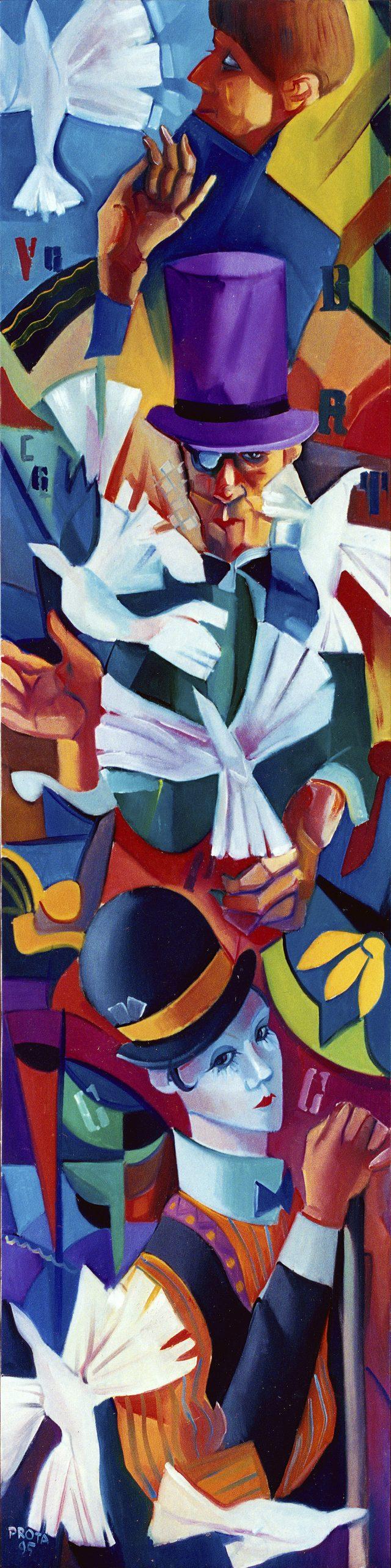 1995 - Illusionisti - 160x40 cm