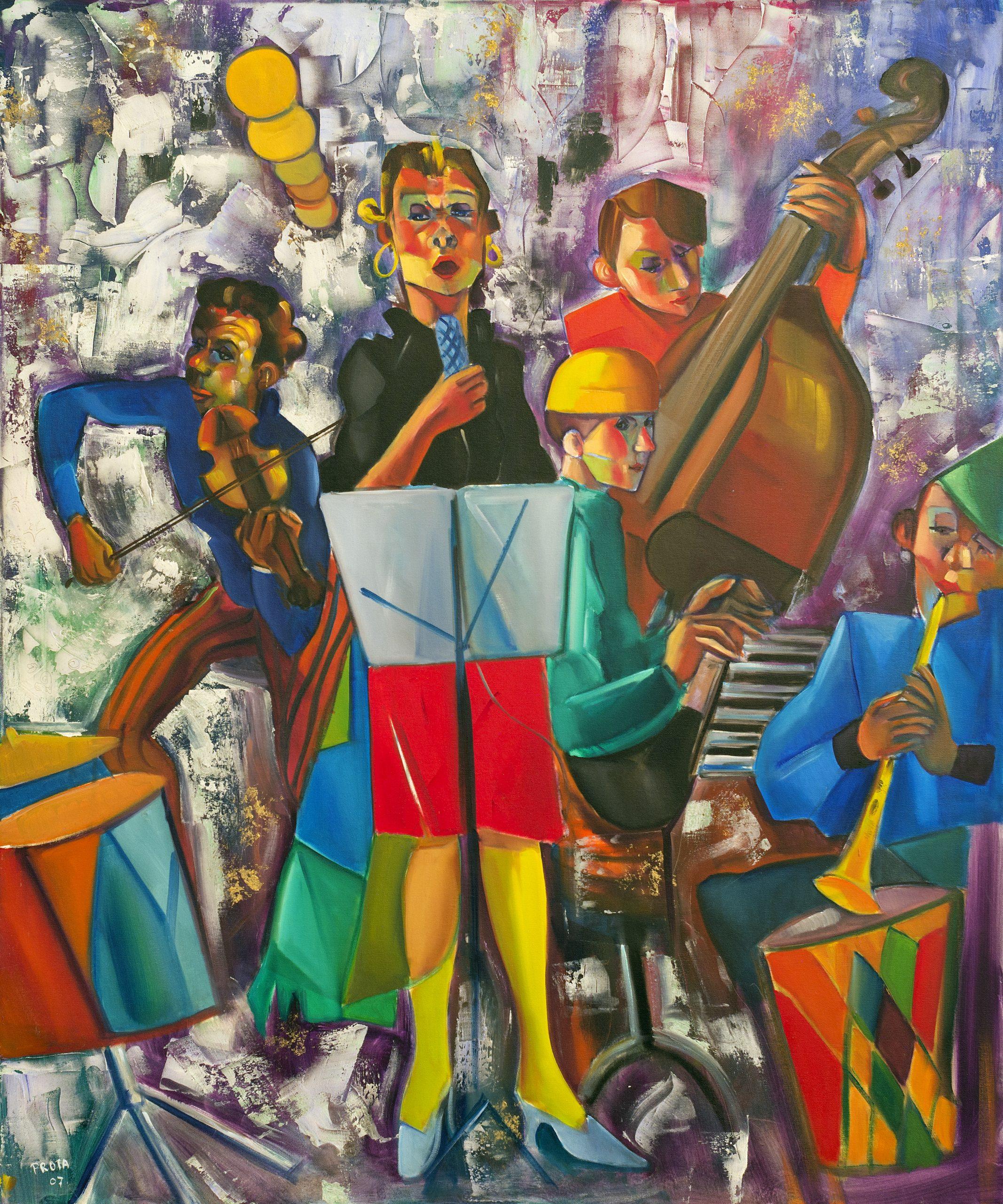 2007 - La Cantante Di Jazz - 100x120 cm