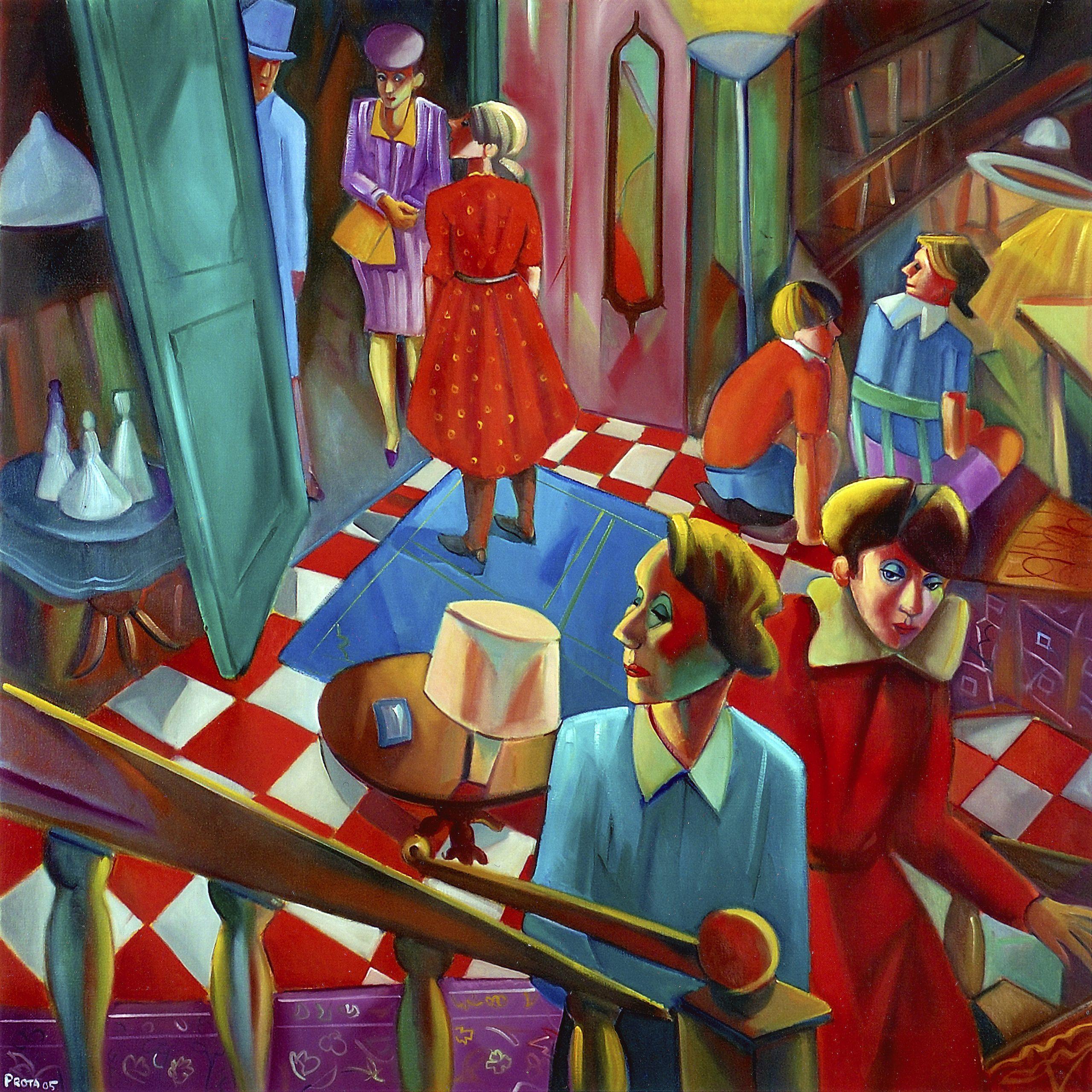 2005 - La Visita - 140x140 cm