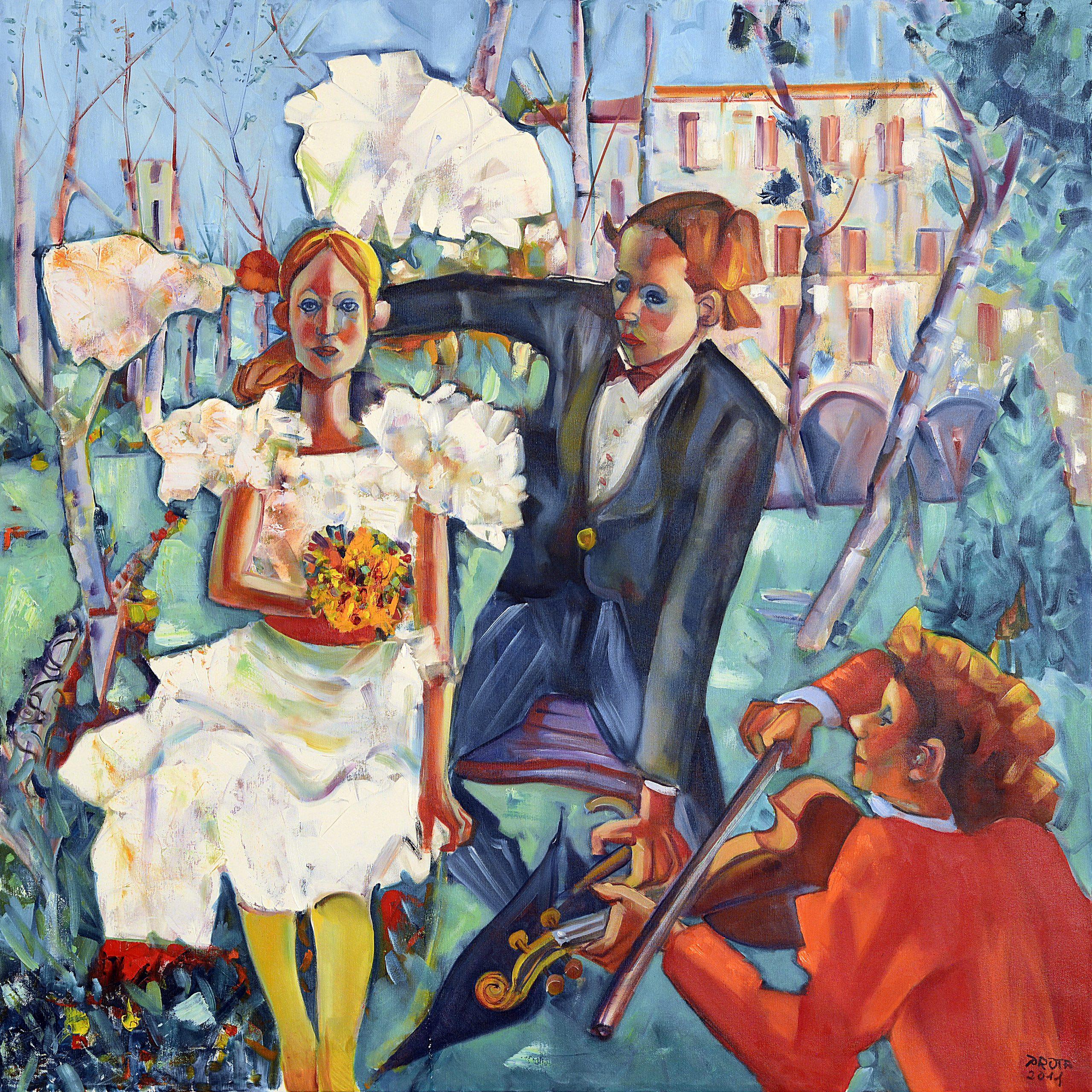 2011 - Matrimonio In Campagna - 100x100 cm
