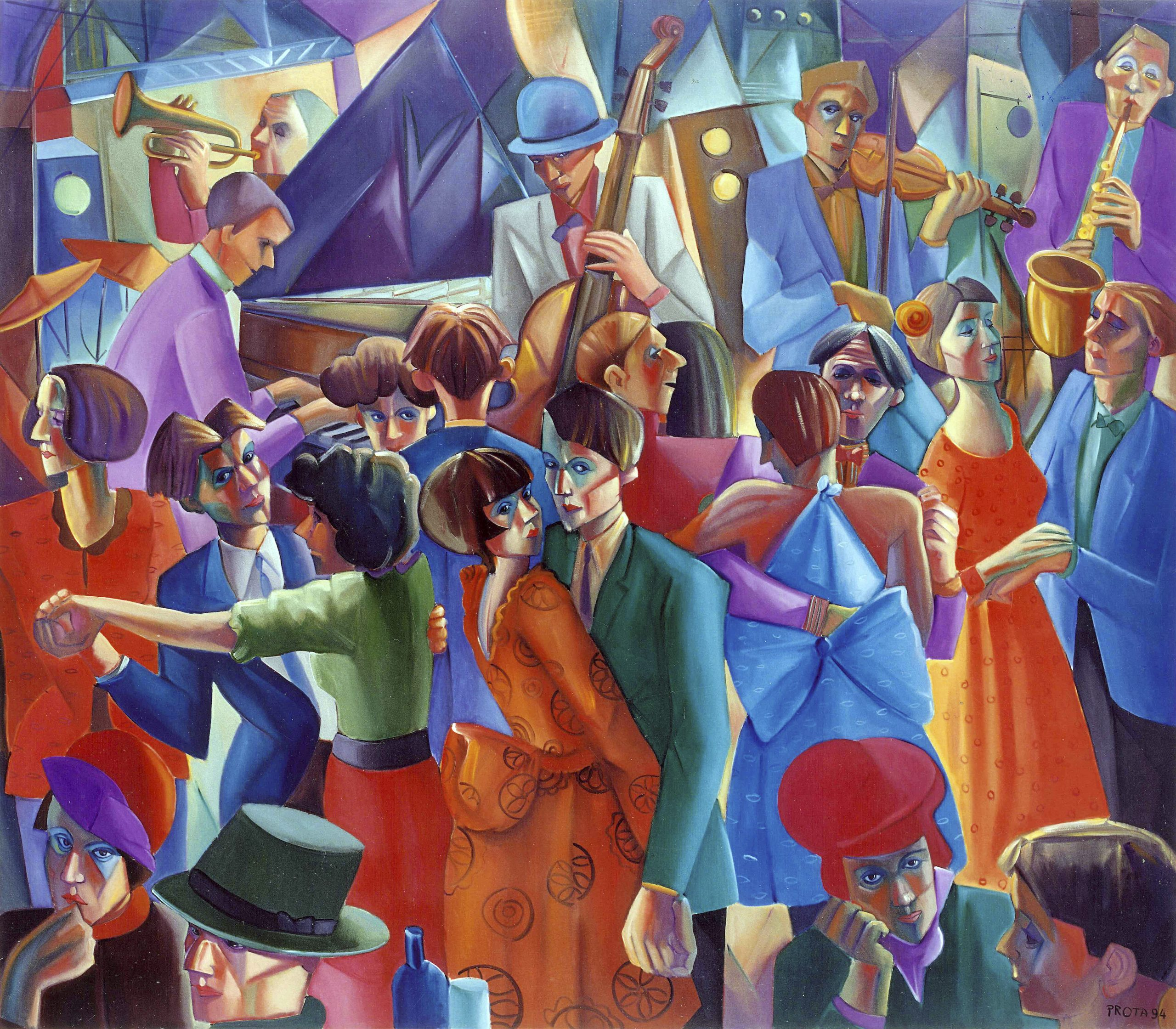 1994 - Night Club - 140x160 cm