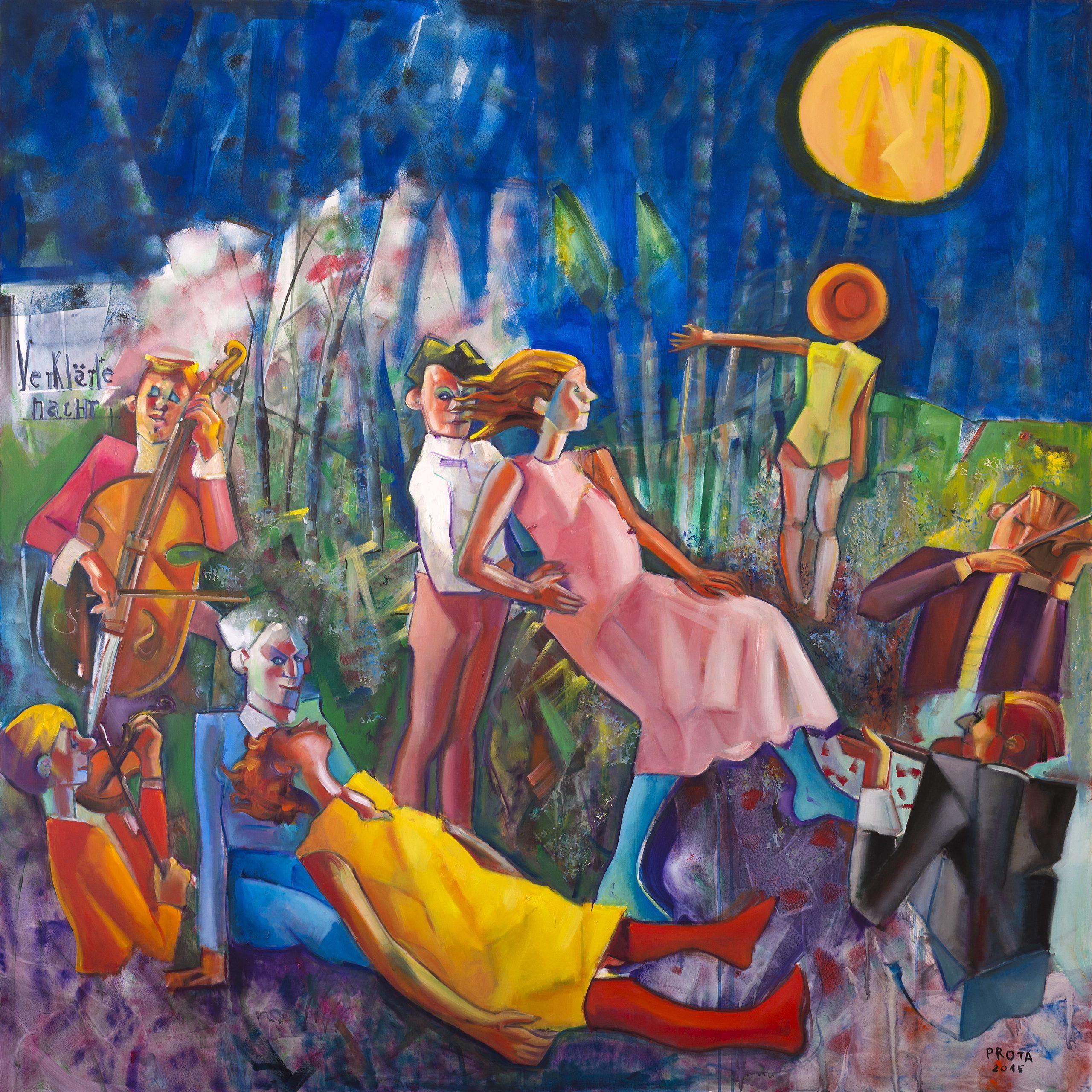 2016 - Notte Trasfigurata - 150x150 cm