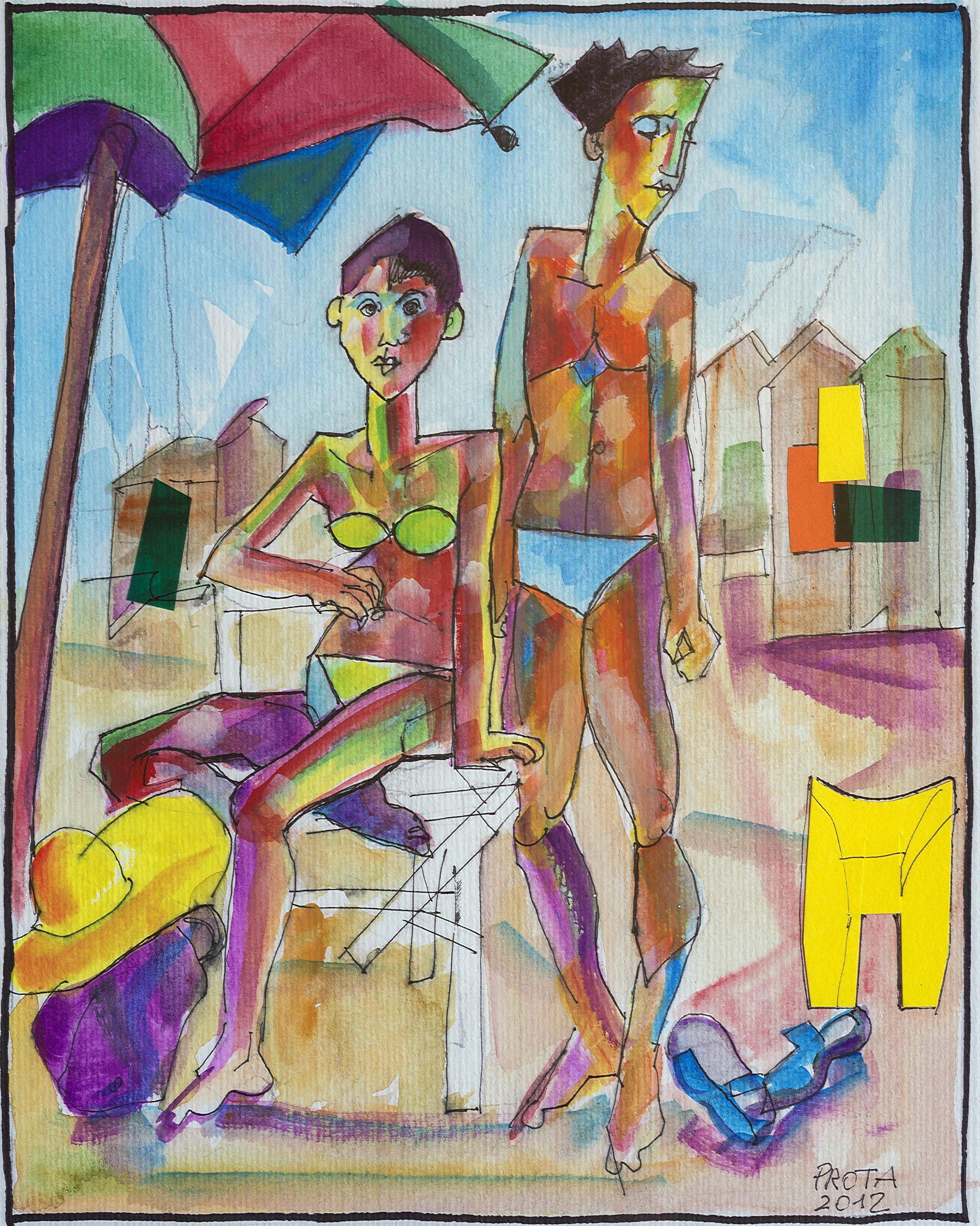 2012 - Spiaggia - 25x20 cm