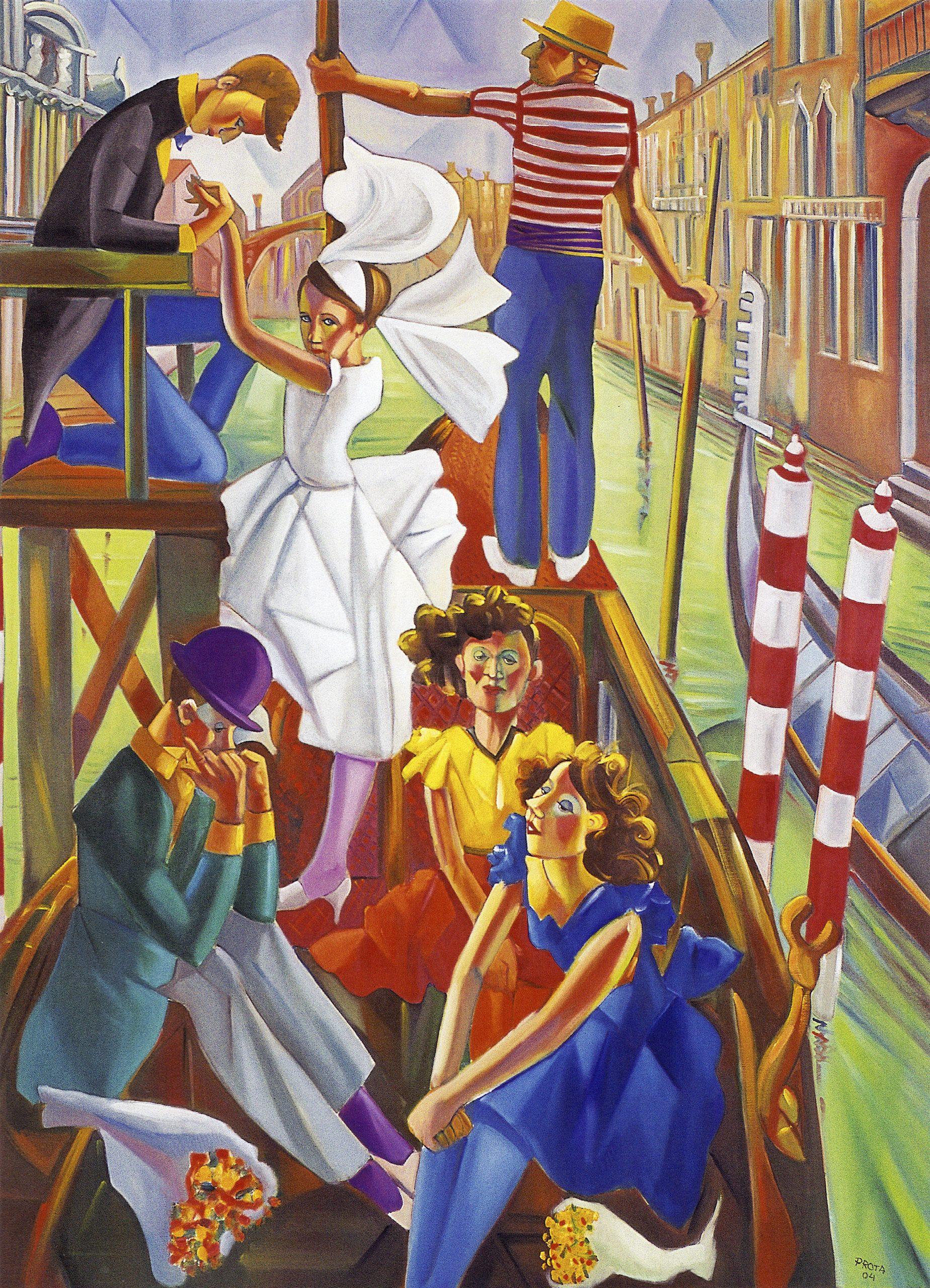2004 - Sposa Che Sale - 180x130 cm