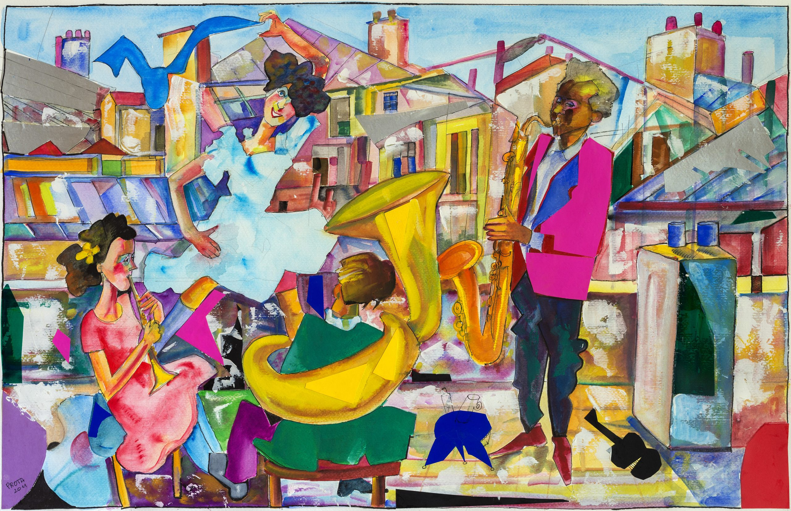 2011 - Tetti Di Parigi - 53x82 cm