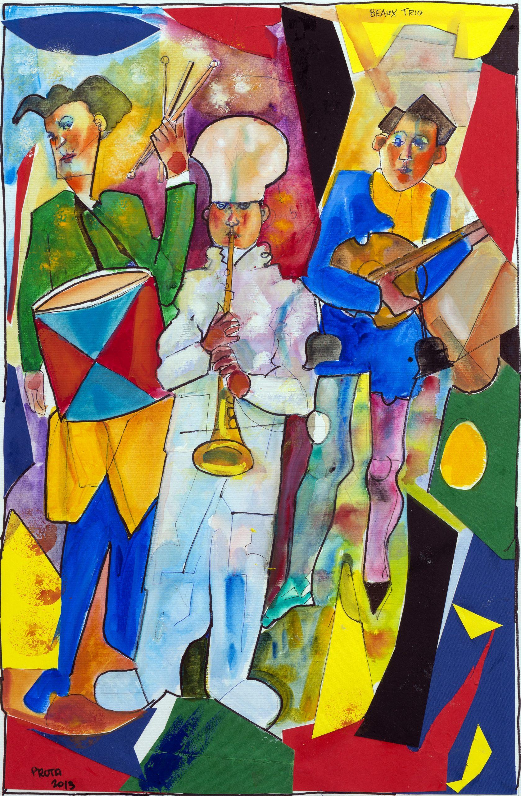 2013 - I Musicanti - 58x38 cm